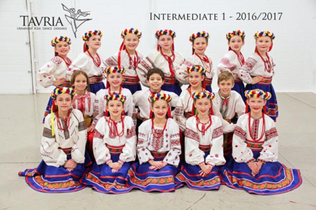 Tavria School of Ukrainian dance - intermediate 1 class - 2016-2017