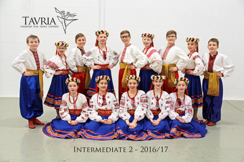Tavria School of Ukrainian dance - intermediate 2 class - 2016-2017