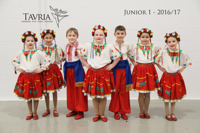 Tavria School of Ukrainian dance - junior 1 class - 2016-2017