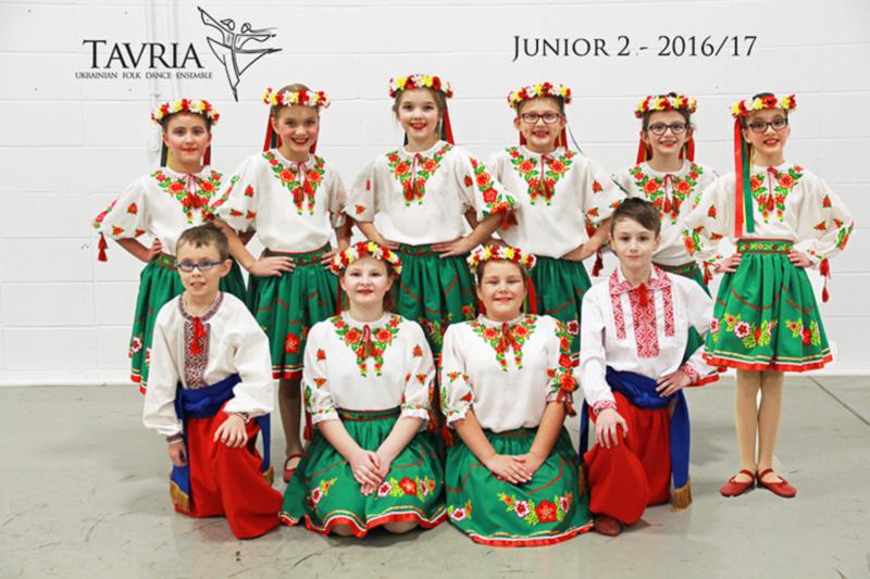 Tavria School of Ukrainian dance - junior 2 class - 2016-2017