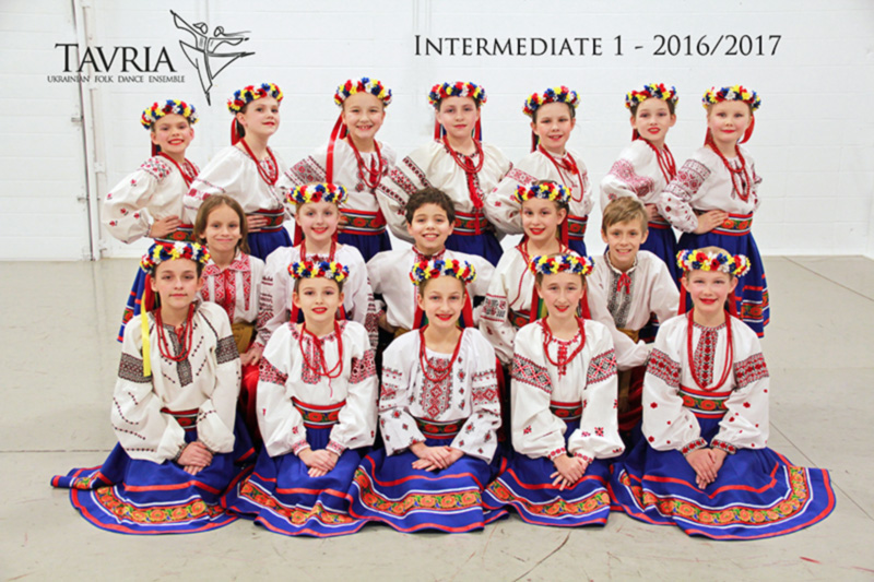Tavria School of Ukrainian dance - intermediate 1 class - 2016-2017